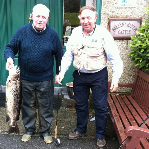 15lb 2oz brown trout from Ballynahinch Lake