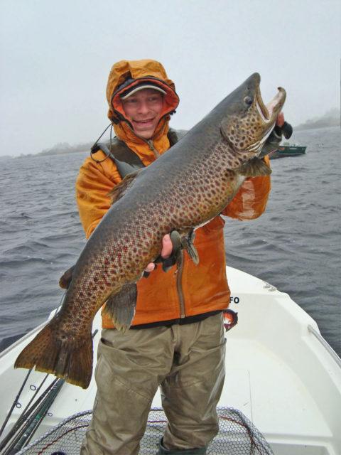 Tomi Kurman with his 83cm 17lbs ferox