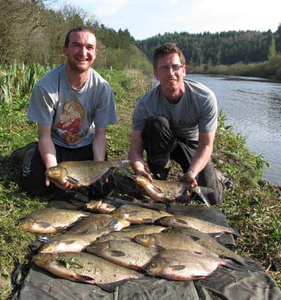 A 60lb haul of Barrow Bream for delighted Graham Pepper and Keith Marsella