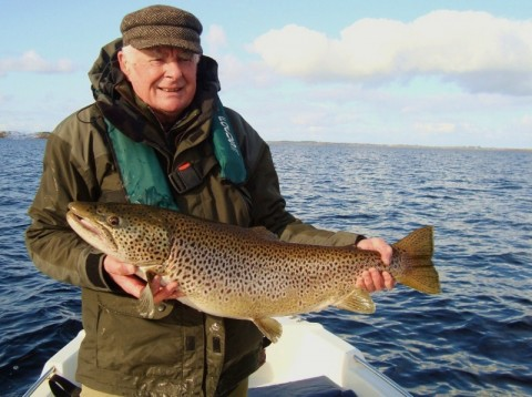 Des Canning with 18lbs 3oz ferox trout