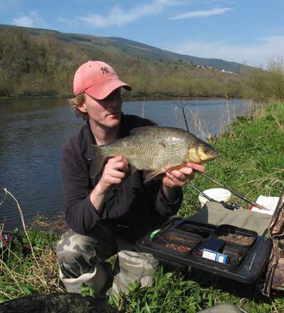 Garry Robinson with Carlow Bream on a sunny day