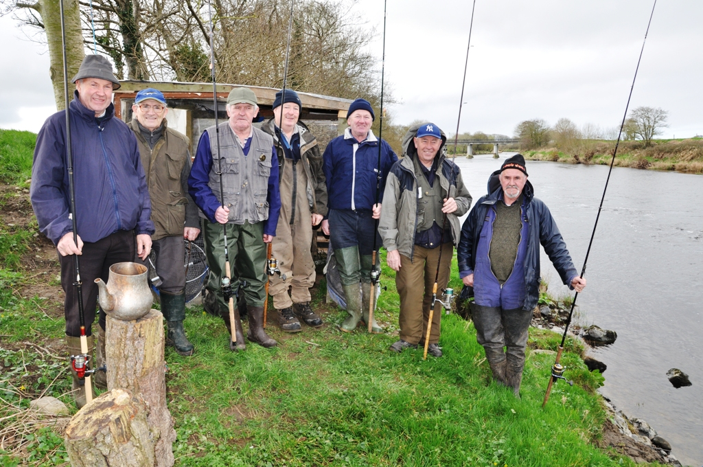 Happy anglers fishing the opening day on the Feale in Co. Kerry