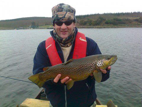 John Faherty with his 5lb Trout