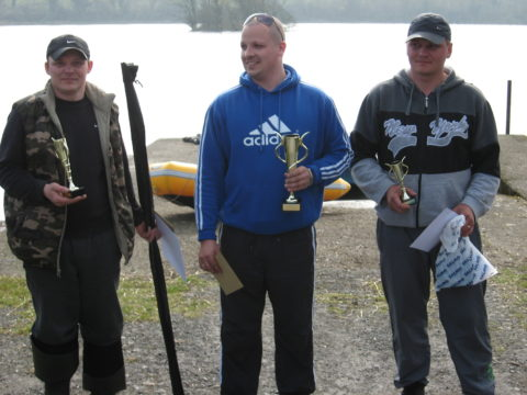 the winner Svjatoslavs Gucevics (Pike 5.96kg) second place Nerijus Spanseris (Pike 2.02kg) and third place Arturas Girgzda (Pike 2kg).