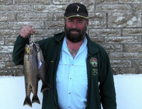 Tom Sweeney with his bag of Conn trout
