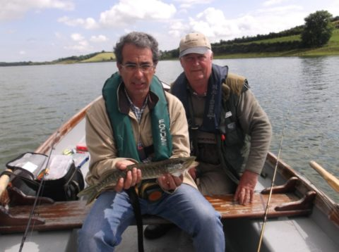 A Small bit of Success, Asier with Angling Guide Tom Cogan