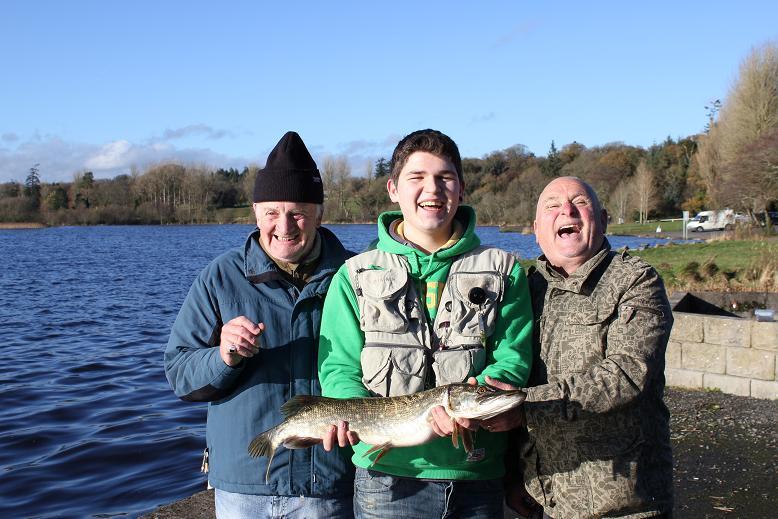 Fishing and Fun on Lough Ramor, Jason Gavin from Navan with His Pike at Lough Ramoravin