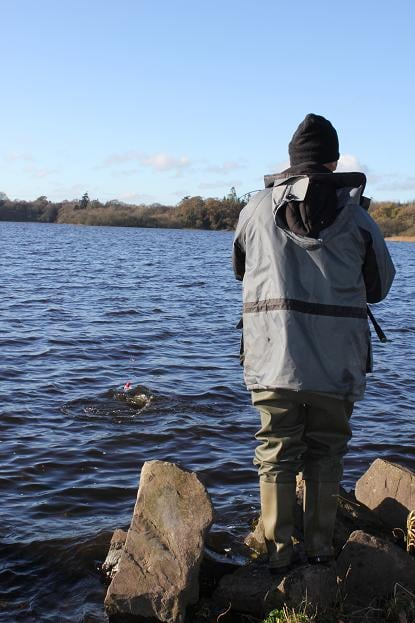 Liam Tully Playing His 11lb Pike on Lough Ramor on Wednesday 21st November