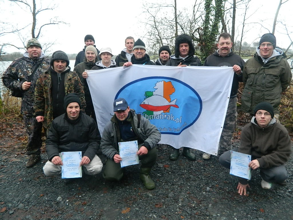 Members of the Fishmaniak Club on Lough Muckno On Sunday 2nd December