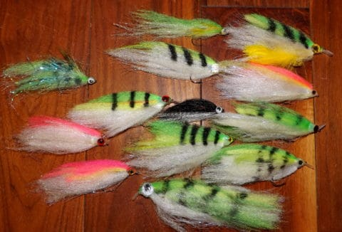 A selection of pike flies