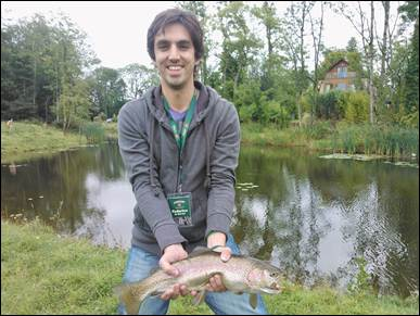 Federico De Martino with a beautifully marked rainbow from the Sheet of Water