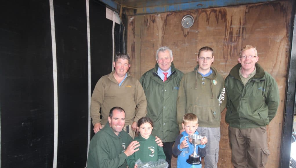 The winners in the under 13 section - a 5 year old won!