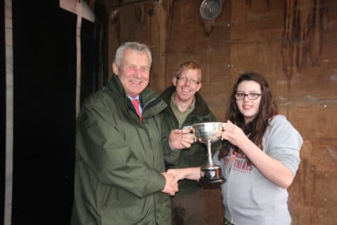 The winner Ashylyn McCabe (under 18 section) with Minister & CEO