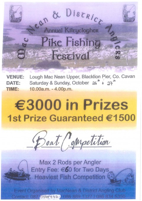 MacNean and District Anglers Annual Kiltyclogher Pike Fishing Festival
