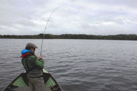 Paul Moinester USA Battles With His First Irish Pike on the Fly
