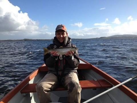 Sheelin - Eddie Shanagher, Clare with his 2 lb Sheelin trout
