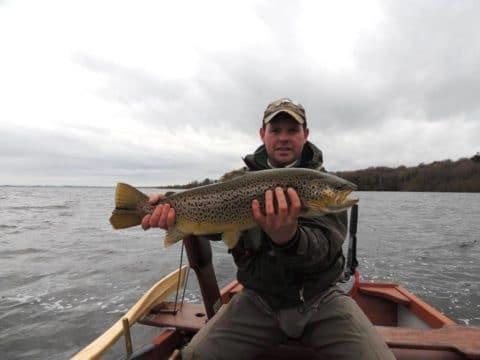 Sheelin - Gary McKiernan of Lough Sheelin Guiding Services with trout of 8lb 11ozs