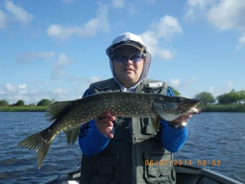 Janis With One of His 6 Pike