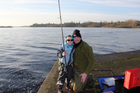 Chris Oliver and His Son Enjoying a Day Out on Lough Ramor Today