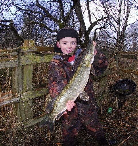 A young man with a good pike