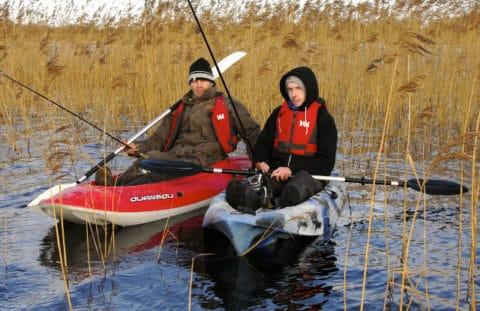 Midlands report - kayak anglers on Lene