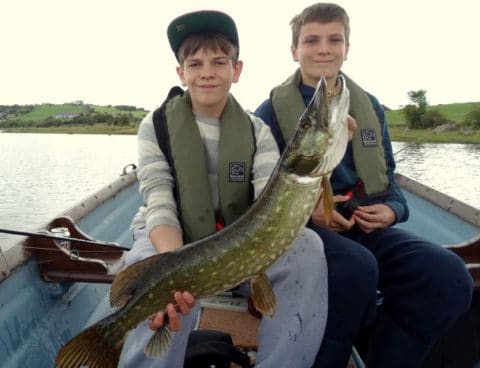 Two happy young-pike anglers!