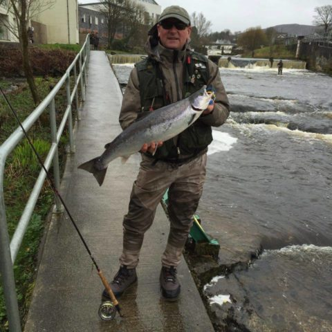 Eddie Harte with the biggest fish on opening day, just over the 10lb mark, taken on a posh tosh tube at harrissons.