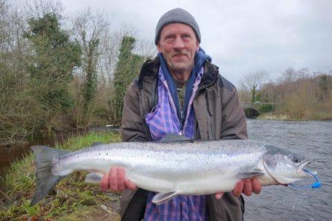 Johnny B with 12lb salmon