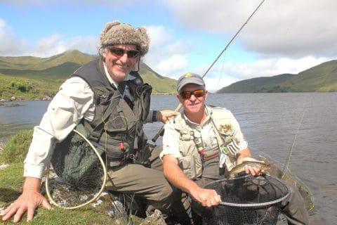 Jackie Coyne With Campbell Baird on Lough Feagh Recently