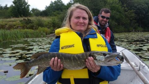 Aisha and Alexander Pike Fishing in the North East Last Week With Peter Cunningham
