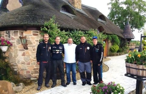 Pascal Brissaud (centre) Welcomes Members of the French Predator Fishing Team to Watermill Lodge (Right) Guilliame Dugardin