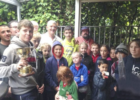Some of the happy anglers who participated in the recent Westport Anglers Junior Competition, won by Naoise Kennedy, with some of the club members who helped organise and steward the competition. Well done to all!