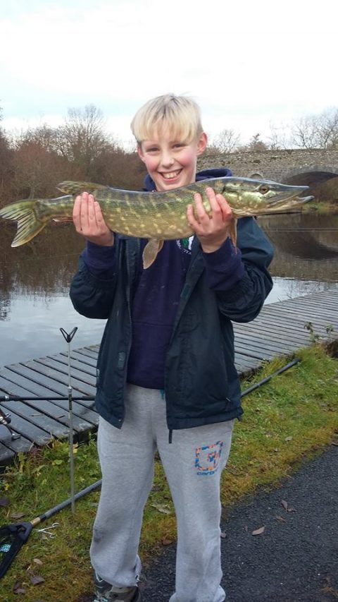 Graham's first ever pike was just the ticket to win him the day