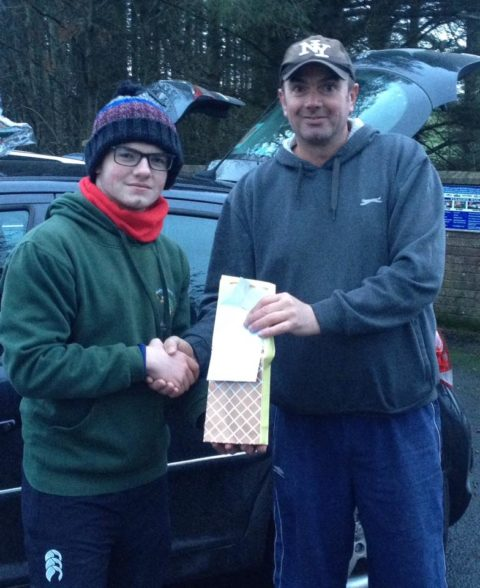 Pauric Donnelly presented  the prizes to the anglers on behalf of the sponsors