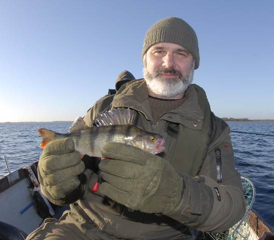 Jim Walsh and a perch
