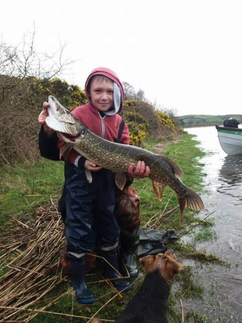 Aodhan Walsh with a 13 pounder