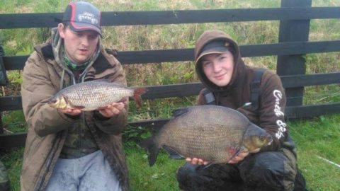 ial Finnegan from Tuam caught this Bream during the night an ounce shy of 6lb. Connor's Roach was 1lb 10oz. Both caught after dark on maggot.