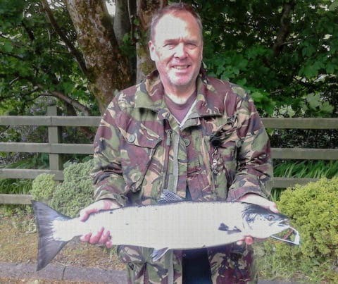 Will Wright with his 7.5lbs Erriff salmon