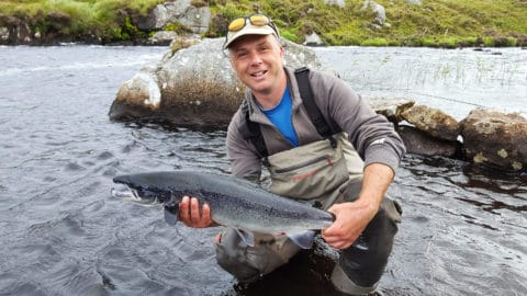 Neil Spellacy with a lovely 9lbs Fermoyle salmon