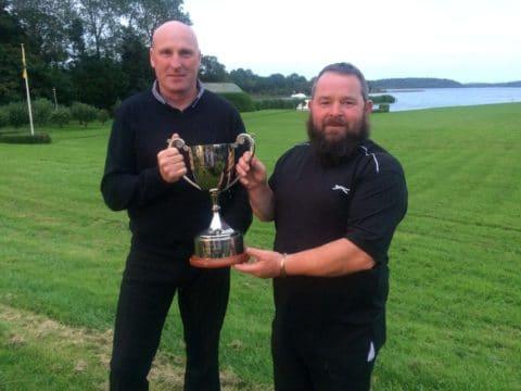 Joe Mc Dermot Left & my guile Pat Healy right , both won the world pike fishing championship.