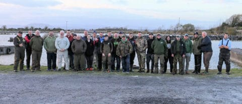 Competitors in the King of the Corrib competition, who all enjoyed a nice day out on Sunday