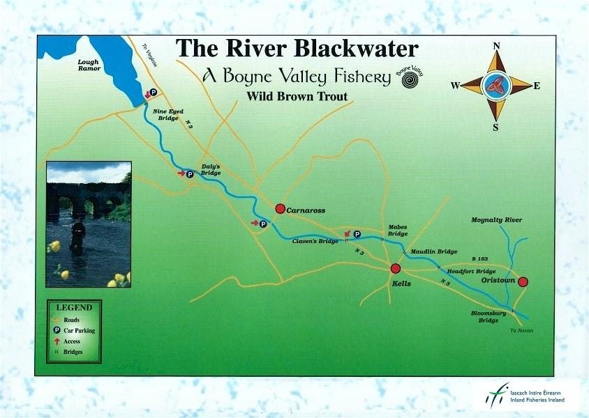 Trout fishing on teh Kells Blackwater, Boyne Valley, Ireland