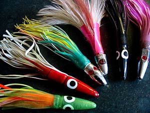 Photo: Lures used for albacore tuna