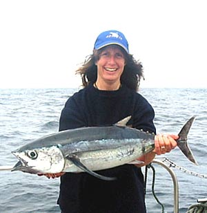 Photo: Tracey with a fine albacore