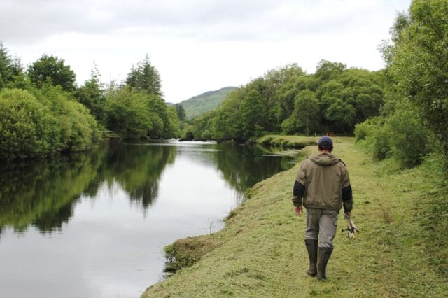 Well kept banks on the upper Caragh Fishery