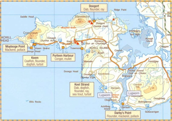 Map of Achill Island