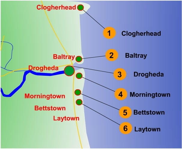 sea angling map for north east coast
