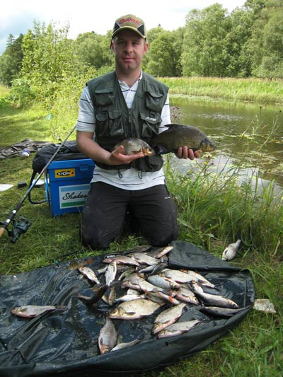 A pleasant day's fishing on the canal