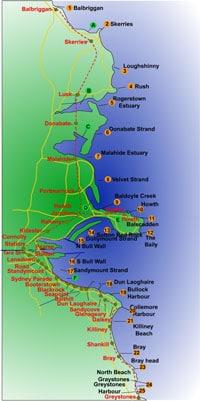 Dublin sea fishing map - Fishing in Ireland - Catch the