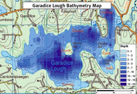 Map of Lough Garadice Depths